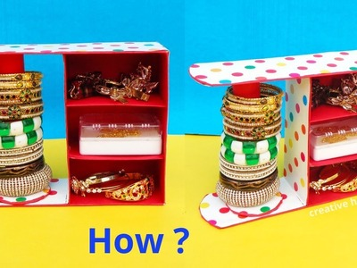 DIY: Bangle Stand making at Home with waste Sweet box | Best out of waste