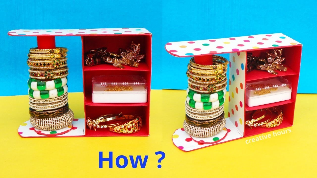 DIY: Bangle Stand making at Home with waste Sweet box   Best out of waste