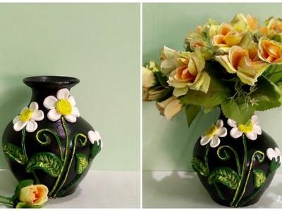 DIY flower vase decoration using ceramic powder    ceramic flower pot    Aimy creations