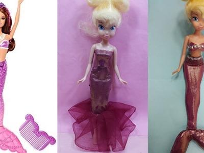 DIY Glam Barbie Doll Mermaid Tails ! Easy Craft&2019