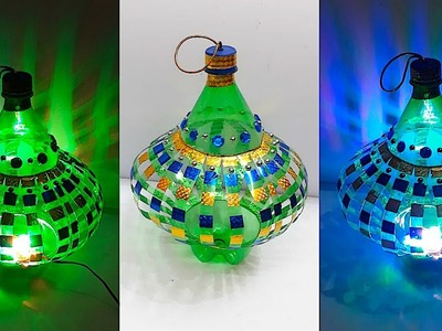 DIY - Lantern.Tealight Holder from Waste plastic bottle at home| DIY Home Decorations Idea