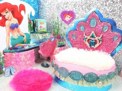 DIY Miniature Dollhouse Room - Ariel Room Decor