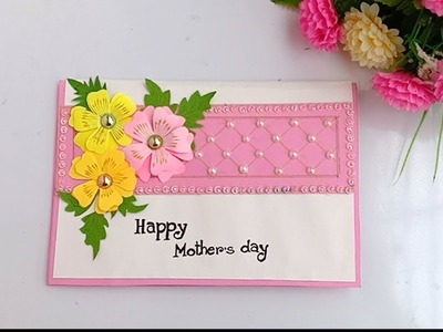 DIY Mother's Day card. Mother's Day  card making. balloon card for Mom