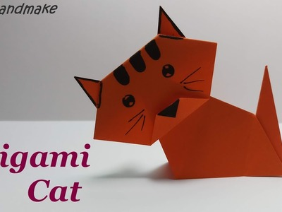 DIY Origami Cat Easy.How to make an Origami Cat.Origami Annimal. Origami for Kids