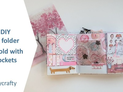 DIY TN folder | Trifold B6 planner folder with pockets | using Planners Anonymous Blossom kit