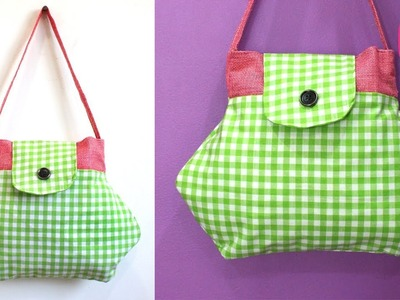 DIY USEFUL FANCY BAG MAKING from OLD CLOTHES