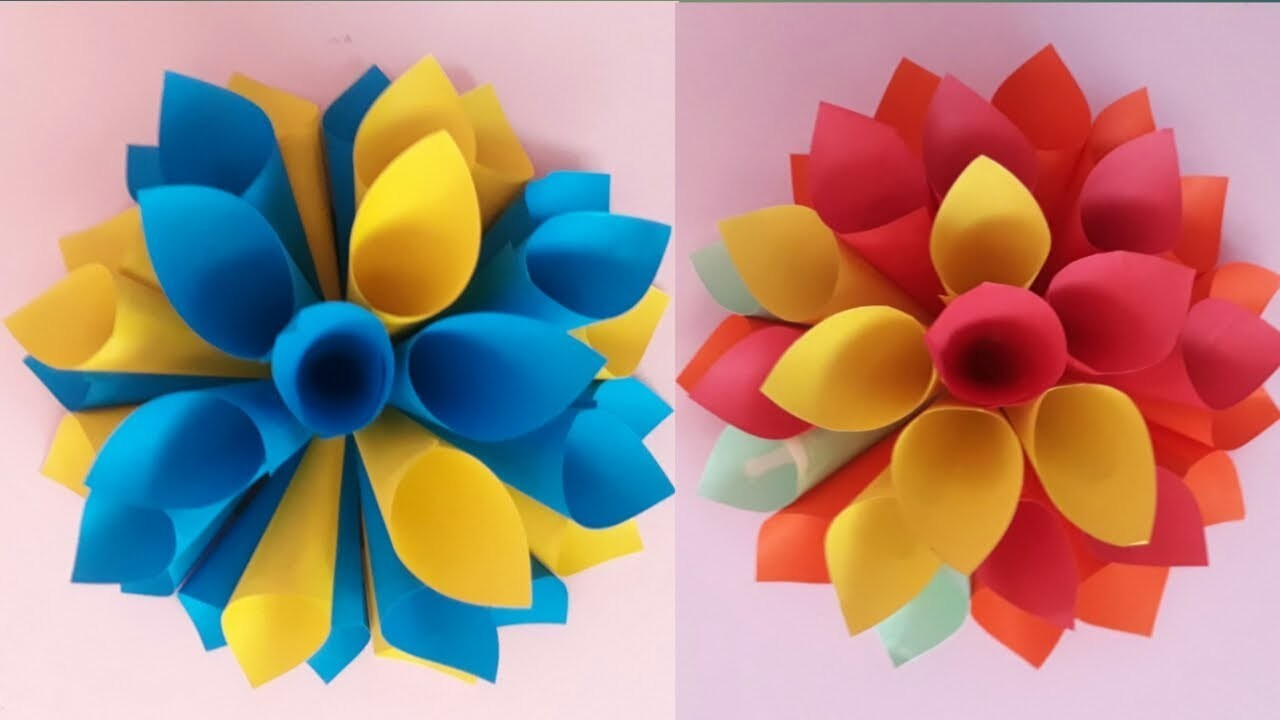 DIY wall decor.using colour papers.