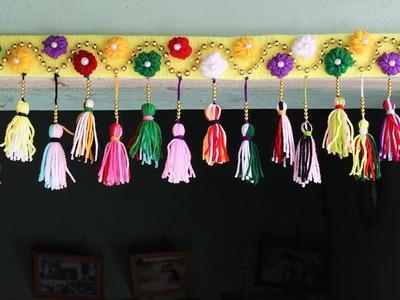 DIY Woolen Door Toran | Home Decor Idea Out Of Wool