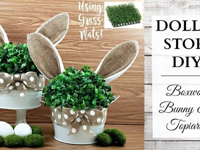 Dollar Store DIY ~ Boxwood Bunny Ear Topiaries ~ Easter & Spring Rustic Home Decor!