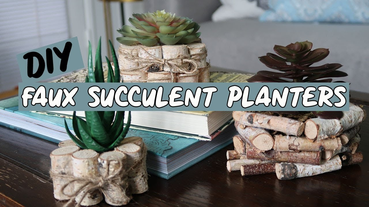 DOLLAR TREE | DIY Succulent Planters ????????????
