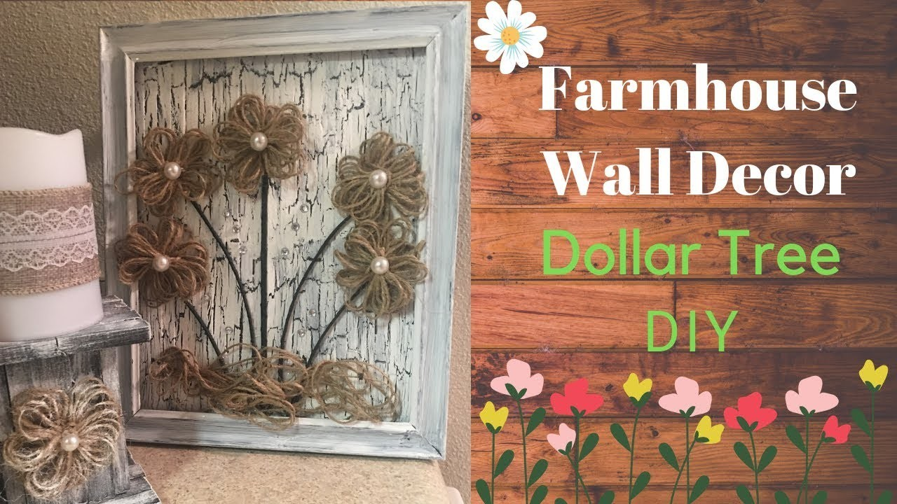 Tree Dollar Tree Farmhouse Diy Crackled Wall Decor Farmhouse Wall Decor Dollar Tree Dollar Tree