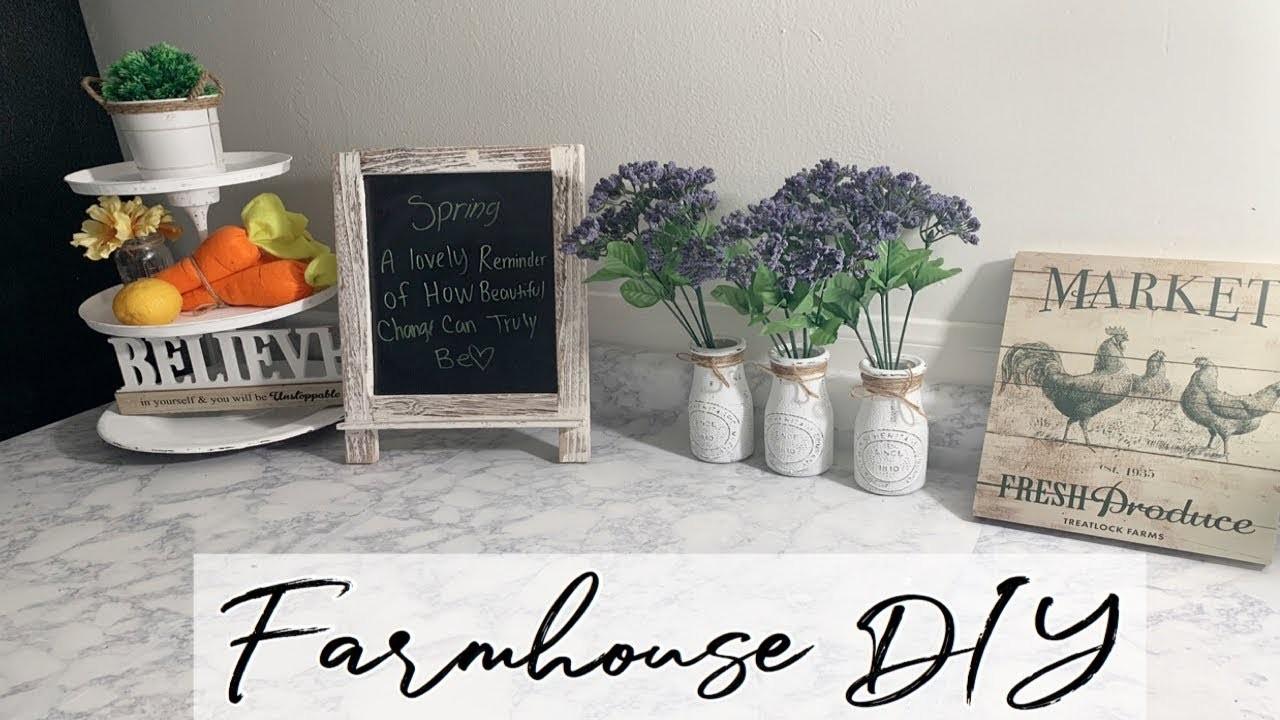 Farmhouse Decor DIY|| Dollar Tree DIY|| 3 Tier Tray|| Mason Jars DIY ll Decorate With Me