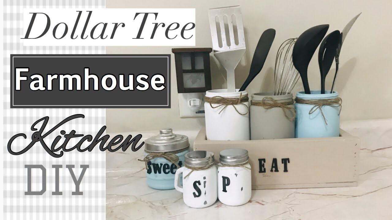 Farmhouse Decor DIY  Dollar Tree DIY Salt and Pepper Shakers Mason jars DIY Decorate with Me