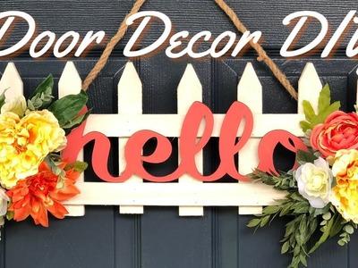 Garden Fence  Door Decor |  Summer DIY