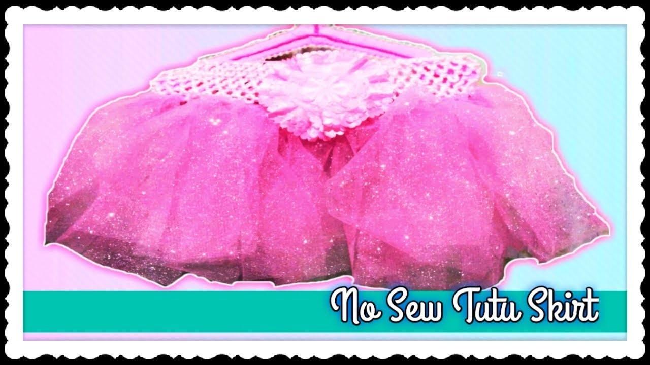 How to make a No Sew  Tutu Skirt for Baby Gir | | DIY Simple and Easy Tutu Skirt