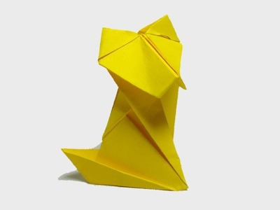 How To Make A Paper Dog - DIY ORIGAMI DOG