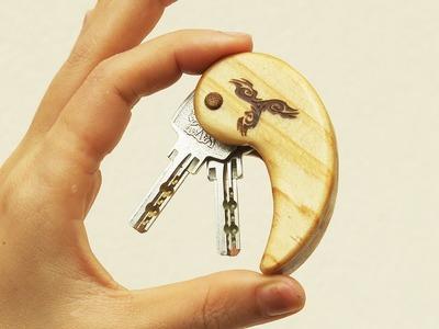 Make a Wooden Key Holder - Wood Crafts DIY idea video