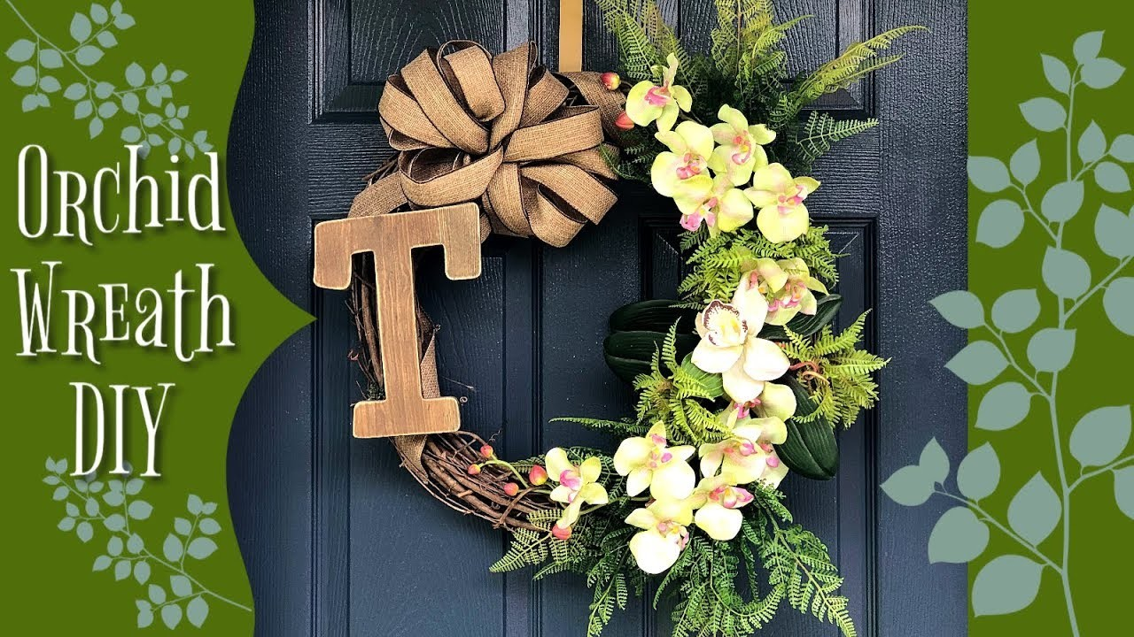 Orchid Wreath DIY | Summer DIY