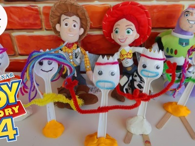 Toy Story 4 Forky - How to Make Forky DIY Kids Craft - Woody Jessie Buzz Lightyear