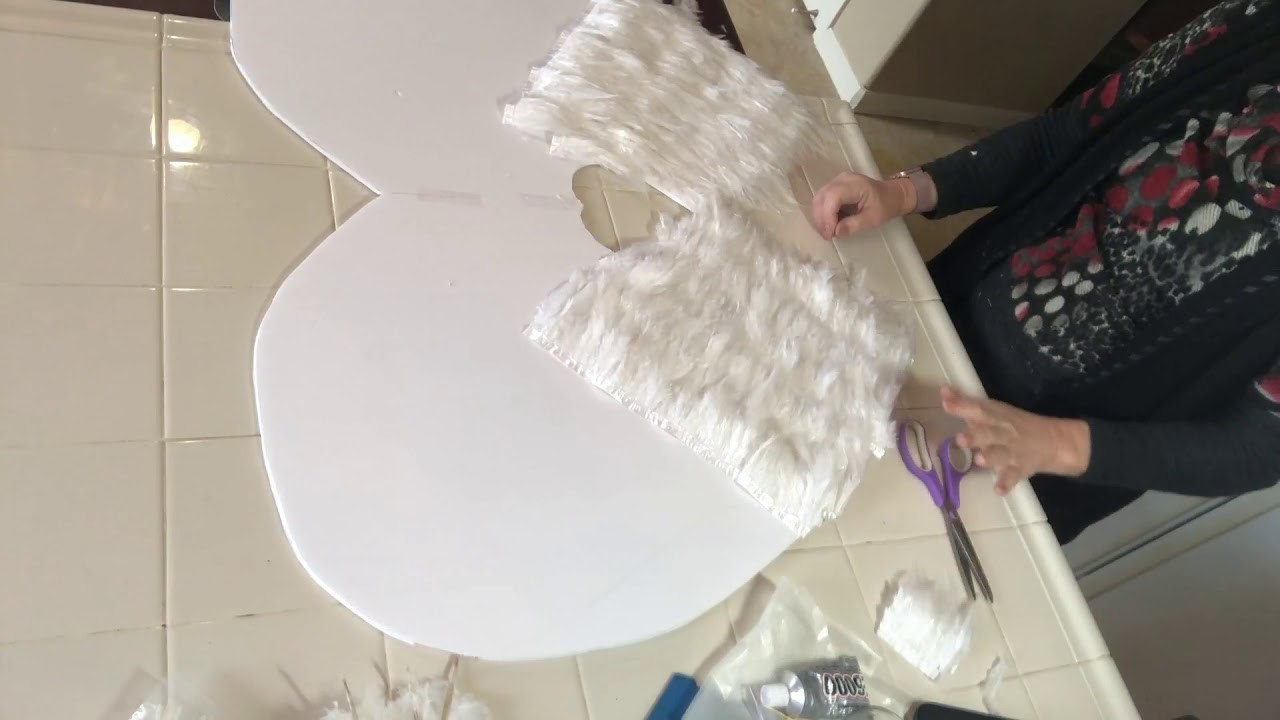 Victoria Secret White Feather Gold Tipped Wings for $60 DIY