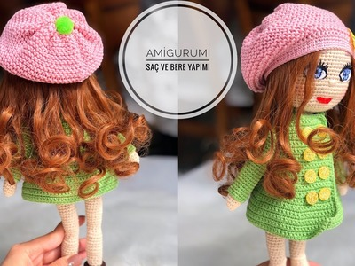 AMİGURUMİ SAÇ VE BERE YAPIMI ( amigurumi hair and hat tutorial)