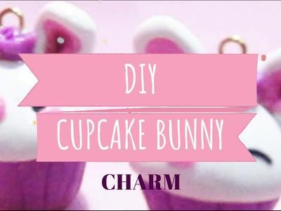 Cupcake bunny | Polymer clay charm bunny