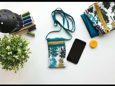 DIY - How to make simple Mobile Pouch (easy sew for beginners)