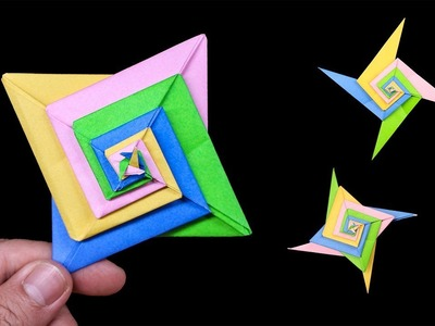 Easy #Origami Paper Ninja star 4 Points