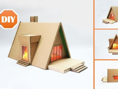 How to Make a Beautiful Romantic House from Cardboard - Cardboard DIY Project