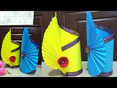 Craft Making Paper Flower Vase How To Make A Flower Vase At Home