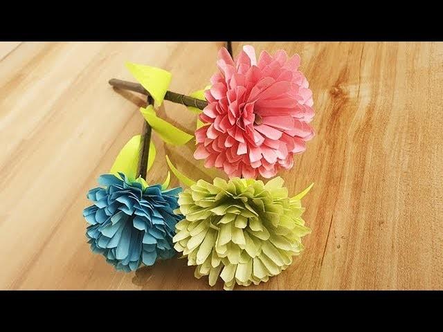 Paper Craft Ideas, Paper Flower Tutorial