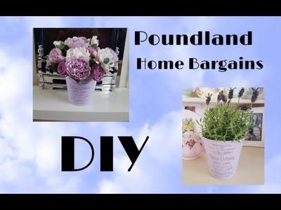 Poundland & Home Bargains DIY ! Farmhouse Cheap Home Decor Idea or gift