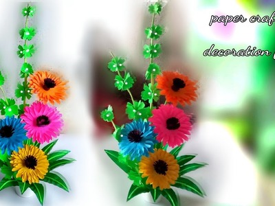 Wonderful paper flower make. handmade things with paper. home decoration with paper crafts