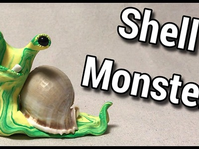 Yellow and Green Shell Monster (Sculpted out of Polymer Clay)
