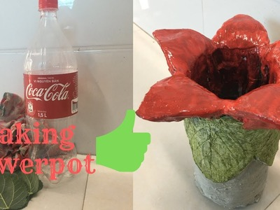 DIY ❤️ how to make flower pots with bottles ❤️ Creative with plastic bottles