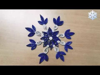 #DIY #Quillingart #artandcraft                     DIY SNOWFLAKE| Quilling Snowflake for beginners.