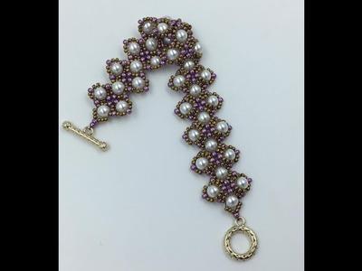 Dressy Pearls Bracelet Tutorial