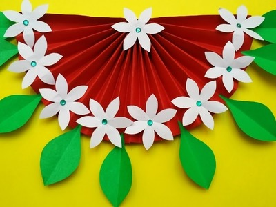 Easy Wall Hanging With Paper   Wall Hanging Craft Idea   DIY Home Decor