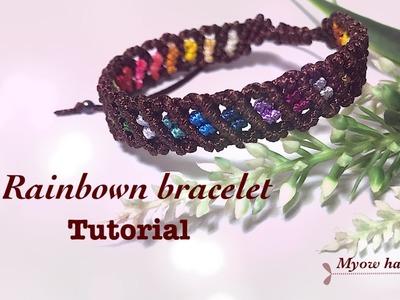 Friendship bracelets - rainbown bracelet tutorial- cách tết vòng tay - vòng tay handmade