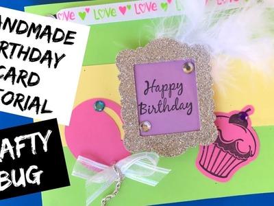 Handmade birthday card tutorial; brother scan n cut tutorial; Stampin up tutorial