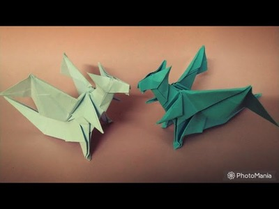 How to create an origami dragon #2