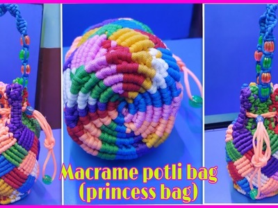 How to make macrame handmade potli bag( princess bag) design no#2#