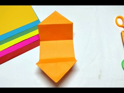 Make Pull me origami greeting. envelop, Step by Step & easy Origami craft for kids