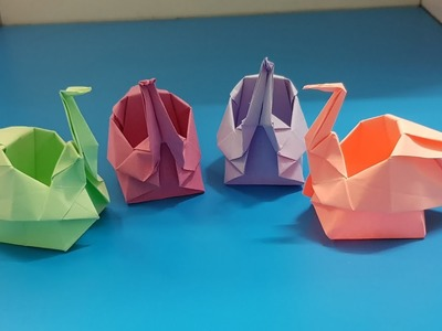 Origami art - Gấp Con Hạc || Origami Box Of The Crane