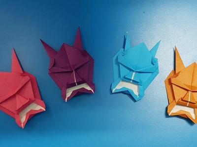 Origami art - Gấp Mặt Quỷ #2    Devil face