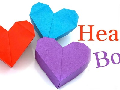 How to make an easy Origami heart box & Envelope paper/heart box ... | 300x400