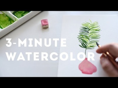 Simple and Soothing Watercolor - Palm Leaves Tutorial