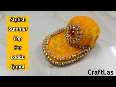 Stylish Summer Cap For Laddu Gopal   DIY Miniature Summer Cap   CraftLas
