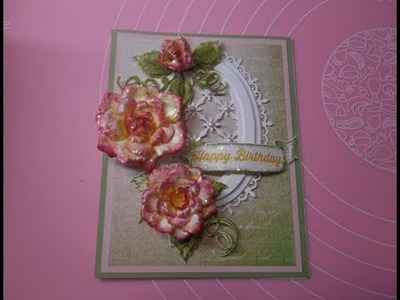 SU meets HC - Peace Rose Birthday card - making the flowers with Heartfelt Creations Classic Rose