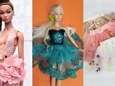 Super Barbie Skirt Tutorial & Pom Pom Doll Dresses | Clever Barbie Hacks And Crafts